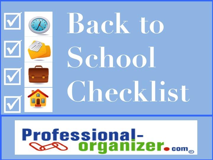 Back to school preparation checklist ellen s blog professional