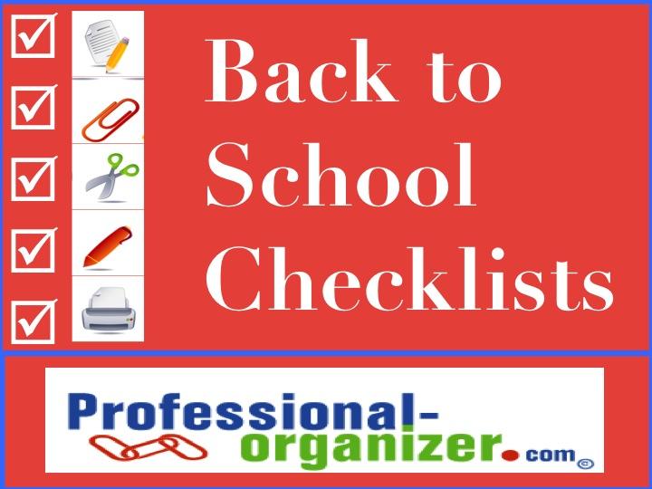 Back to school checklists