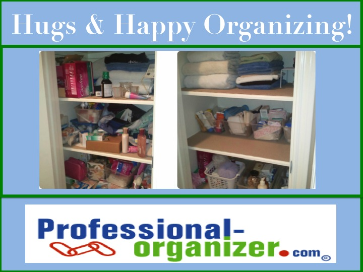 Linen and medicine closets get out of control easily its a rush to get ready find medicines and just get access to stuff in these deep closets