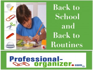 Back to school and back to routines for everyone