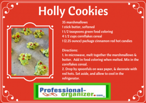 holly cookies easy to make and share