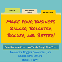 Small business organzing and productivity