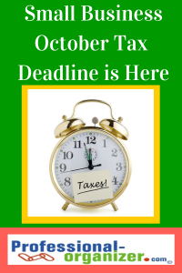 Small business October Tax Deadline