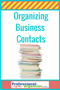 organizing business contacts