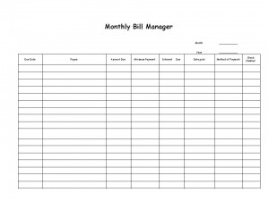 Bill Manager List