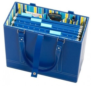 Office Candy paper organizing tote