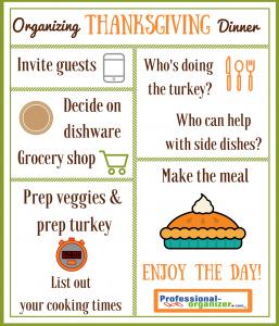 organizing thanksgiving dinner