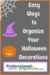 organize your halloween decorations
