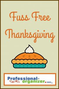 fuss free thanksgiving