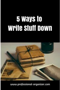 write it down productivity