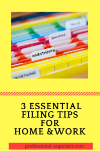 3 essential filing tips for home and work