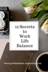 12 secrets to work life balance