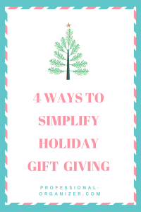 4 ways to simplify holiday gift giving